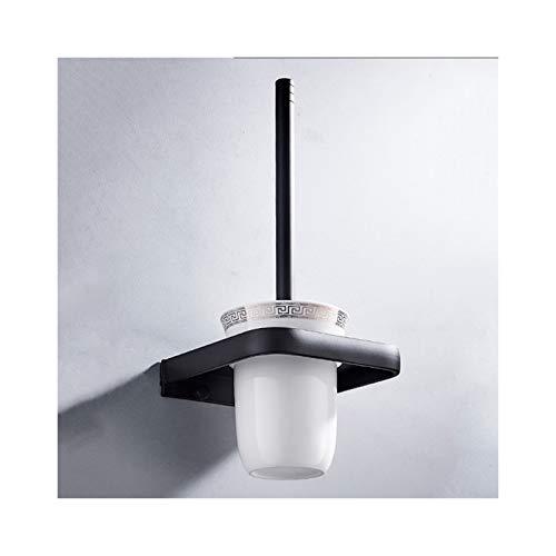 XIAOQIU Cepillo de Inodoro montado con Soporte Conjunto de cepillos de Inodoro de cerámica con Mango Largo para Almacenamiento y organización de baños