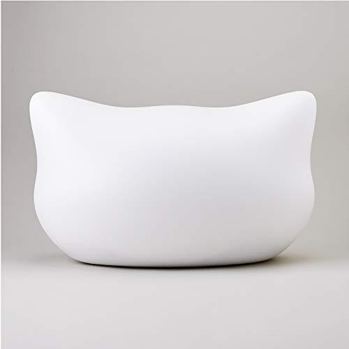 ねころんしろ猫顔モチーフドーム型ベッドファーマット付きホワイト猫