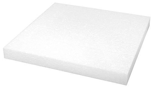 Rayher Plaque polystyrène Carré 40x40x4 cm