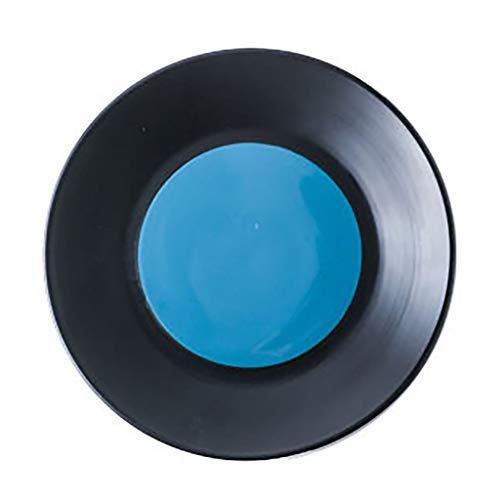 baa Placa de cerámica Placa de Cena Adecuado para Cereales Pasta Fideos Lavavajillas y Horno de microondas