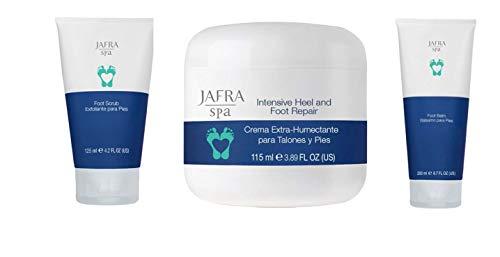 JAFRA spa Intensiv Fußpflege Set mit Peeling, Fußbalsam und Intensiv Fuß- Fersencreme