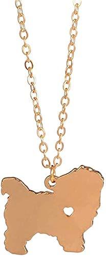 BACKZY MXJP Collar Collar Collar Maltés De Moda Colgante De Perro De Pelo Corto Raza De Perro Encanto De Plata Regalo De La Raza De Mascotas