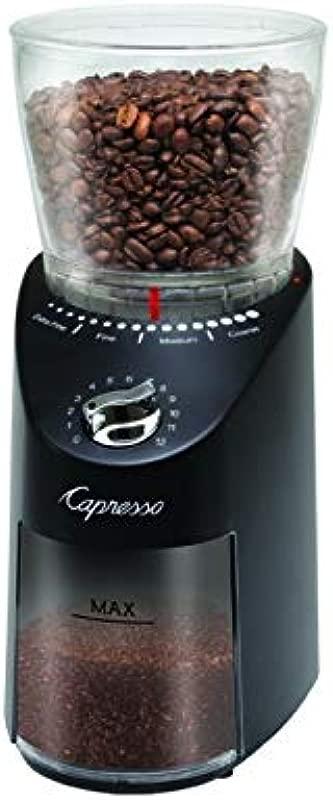 Capresso 570 01 Infinity Plus Commercial Grade Conical Burr Grinder Black