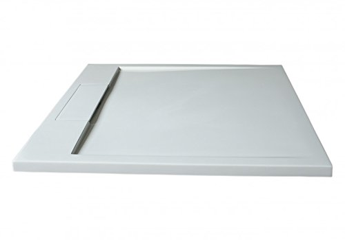 Mineralguss Duschtasse Duschwanne PB3087 - Weiß matt - 90x90x3,5cm