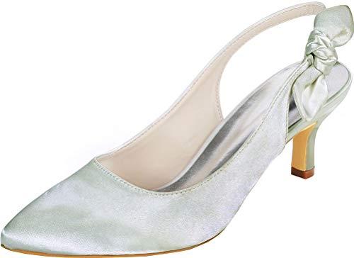 Damas puntiagudas Dedo del dedo del pie Slingback D-Orsay vestido de boda...