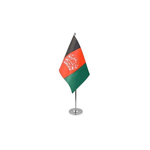 AZ FLAG Prestige TISCHFLAGGE Afghanistan 22x15cm Metall - AFGHANISCHE TISCHFAHNE 15 x 22 cm - flaggen