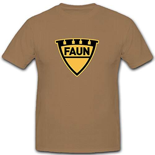Faun 12253 - Camiseta del fabricante de vehículos utilitarios Kraka con carretillas, diseño del ejército alemán arena XXXL