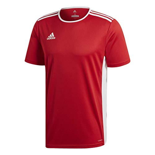 adidas Boys' Entrada 18 Jersey, Power Red/White, Large