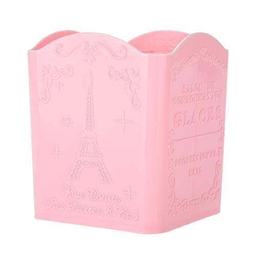 ANGGO 3 Boîte de rangement de couleur Papeterie Cosmétique et outils de manucure Conteneur avec motif de tour(Rose)