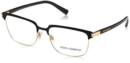 Brillen Dolce & Gabbana VIALE PIAVE DG 1302 MATTE BLACK GOLD Herrenbrillen