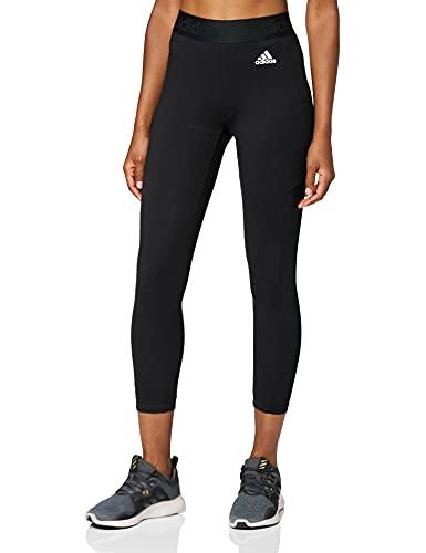 adidas Damen Leggings 7 8, Schwarz/Weiß, M EU