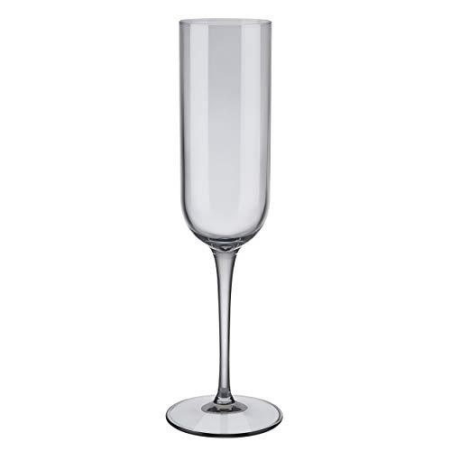 blomus - Bicchieri da Spumante, 210 ml, Colore: Grigio Fumo