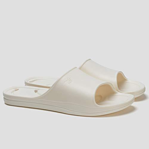 Pantuflas Inicio baño par de bañarse sandalias y zapatillas verano femenino fugas gruesas zapatillas de masaje huecos inferiores Zapatillas de Playa Sandalias ( Color : B , Size : 35-36 )