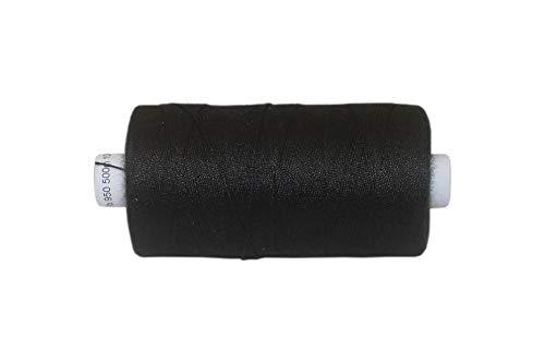 dalipo - Polyester Nähgarn, Stärke 50, Jeansgarn, 500m, schwarz