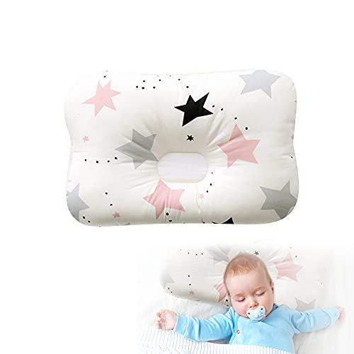 Aloces Oreiller bébé, Coussin Bébé Tête Plate, Oreiller 3D Respirant pour bébé Nouveau-né, Anti-Biais Oreiller pour bébé, Oreiller pour Dormir, Coussin bébé par la Plagiocéphalie