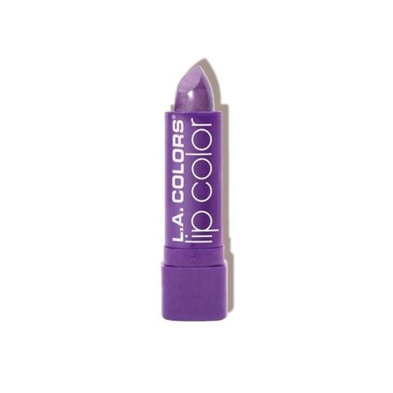 エンドウ悩み困惑する(6 Pack) L.A. COLORS Moisture Rich Lip Color - Grape Crush (並行輸入品)