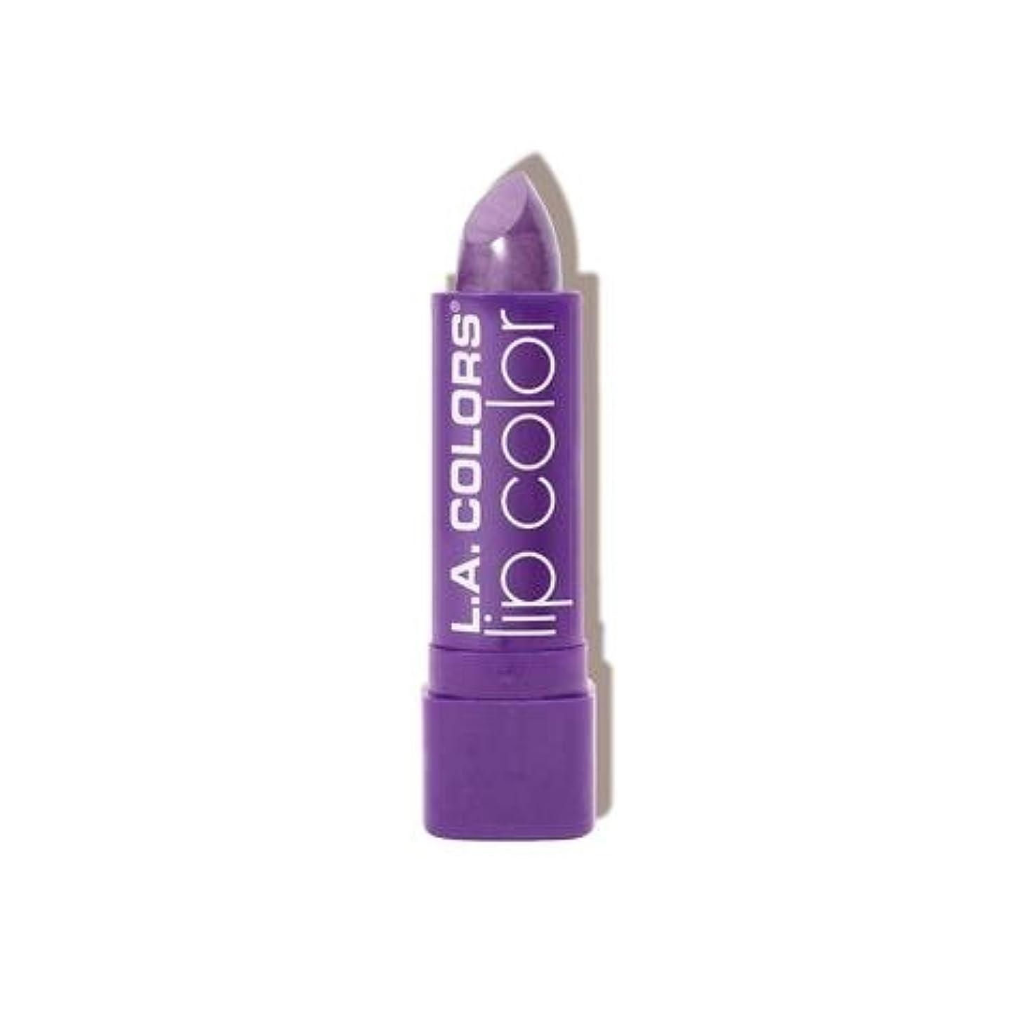持っている道決定する(6 Pack) L.A. COLORS Moisture Rich Lip Color - Grape Crush (並行輸入品)