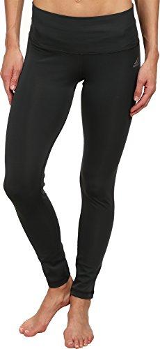 adidas Women's Performer Mid-Rise Long Tight, Dark Grey/Matte Silver, Small
