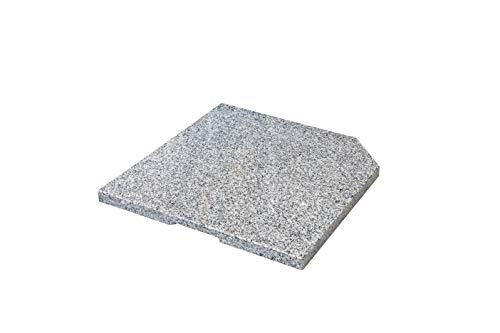 doppler SL-AZ Leichte Beschwerplatte 25 kg – Hochwertiger Natursteinsockel aus Granit – Für Schirmständer – ca. 50x50x4cm