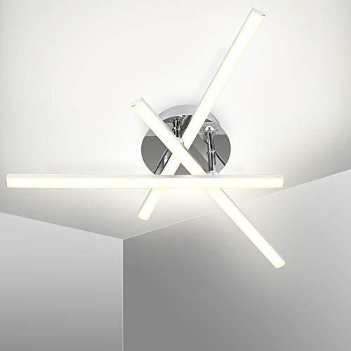 Kingwei Lámpara de techo LED 18W, Plafon led techo moderno 5500K Luz blanca, Plafones de techo de diseño triangular con 3 placas para salón dormitorio escalera pasillo