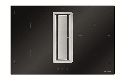 SILVERLINE FLIK 854 ES Flow-In Intern Premium Induktions-Kochfeld mit Kochfeldabzug, Dunstabzugshaube, Tischhaube, 78 cm, A