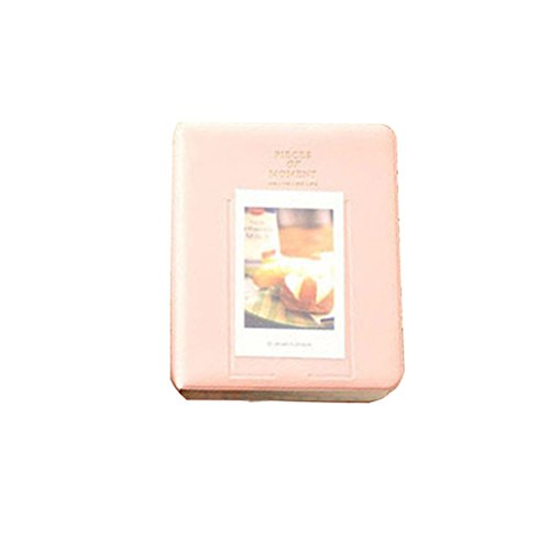 ULTNICE — Estojo para guardar fotos com 64 bolsos e álbum de fotos de 7,6 cm para Fujifilm Instax Mini LOMO Sofort (rosa)