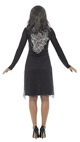 SMIFFYS Costume scheletro donna, Nero, con vestito