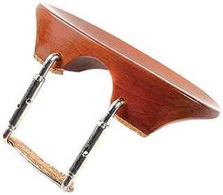Flat Flesch 3/4 - 4/4 Violin Chinrest - Boxwood with Standard Bracket