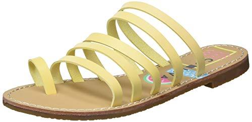 Coolway Damen Sandalen zum Reinschlüpfen, Gelb, 39 EU