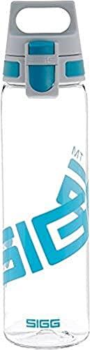 SIGG Total Clear ONE Aqua Trinkflasche (0.75 L), schadstofffreie und auslaufsichere Trinkflasche, leichte und bruchfeste Trinkflasche aus Tritan, Blau