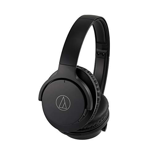 Audio Technica ATH-ANC500BTBK Bluetooth Wireless Active Noise-Cancelling Over-Ear Headphones with Microphone (Black)