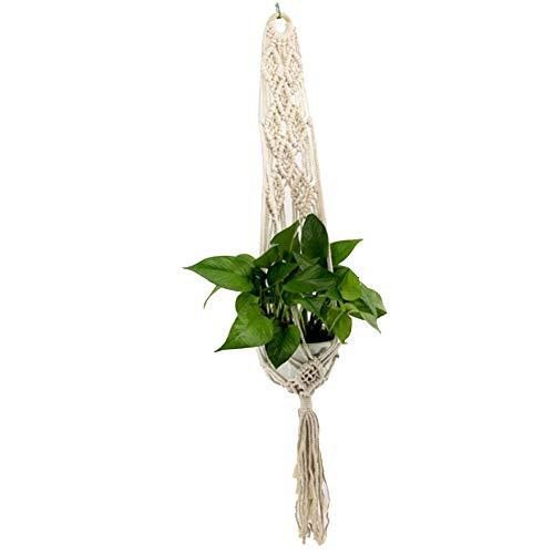 LAAT Suspension de Plante Plant Hanger à la Main Cintres de Plantes Macramé Corde Fleur Pot à Suspendre Plante Holder Porte-Panier (Style# B)