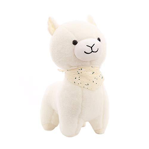 Niedlicher Schal Alpaka, Plüschtier Baby Baby Tröstendes Schlafkissen, Geburtstagsgeschenk Für Mädchen, 25 Cm 25Cm Weiß