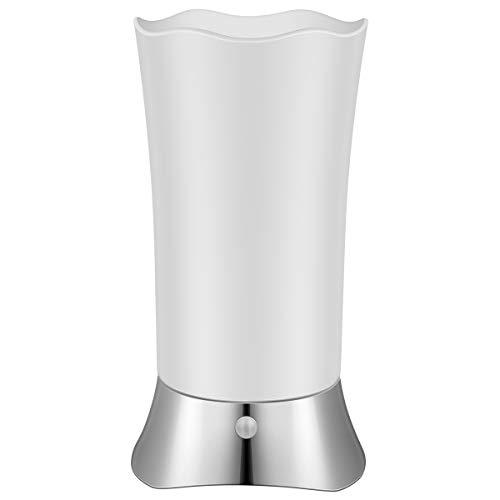 LEDMOMO Batteriebetriebene Lampen, Wireless Motion Sensor Licht für Zimmer Schlafzimmer Badezimmer (Silber)