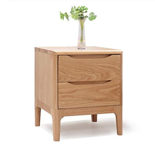 Alle massief houten nachtkastje, eiken nachtkastje, van hoge kwaliteit slaapkamer meubilair nachtkastje, houtkleur nachtkastje (Color : A)