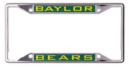 WinCraft NCAA Baylor University Bears 6 x 12 Inlaid Acrylic/Metal License Plate Frame