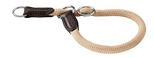 HUNTER Freestyle Dressurhalsung, Hundehalsband, Zugstopper, robust, wetterfest, 50 (M-L), beige