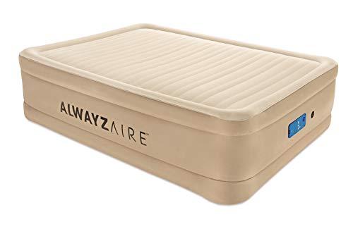 Bestway AlwayzAire Doppelbett Luftbett selbstaufblasend mit eingebauter Elektropumpe, 203x152x51 cm