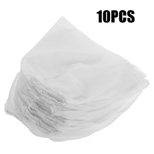 zhuangyulin6 10PCS Staubsaugerbeutel, weiße Nicht gewebte Nagelstaubsammelbeutel Staubsauger-Ersatzbeutel für Nail Art Staubsauger