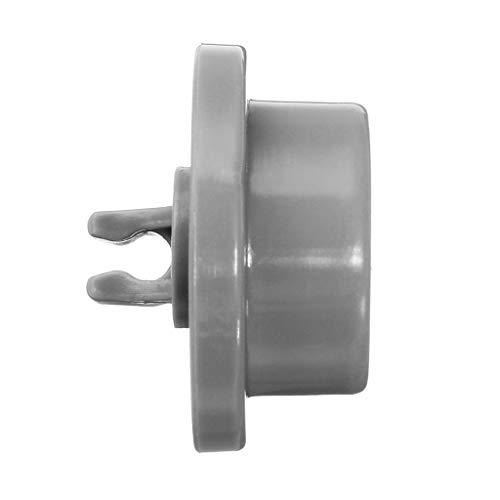 jieGorge 4X Dishwasher Lower Basket Wheel Roller AP2802428, 165314 Kompatibel mit Bosch-Neff-Siemens, Smart Home-Zubehör (grau)