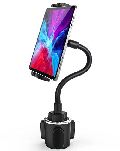Schwanenhals Auto Tablet Getränkehalter, woleyi Universal Tablet Getränkehalter für Auto, LKW, Laufband, Spinning Bike, für iPad Pro 12.9 Air Mini, Galaxy Tabs, iPhone Mehr 4-13