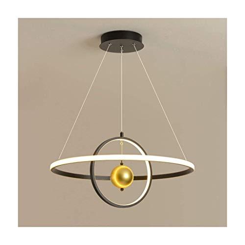 HLY Lamp Chandelier, Simple Modern Creative Living Room Bedroom Dining Room Art Opposite Sex Aluminum Alloy Chandelier,B,Stepless dimming