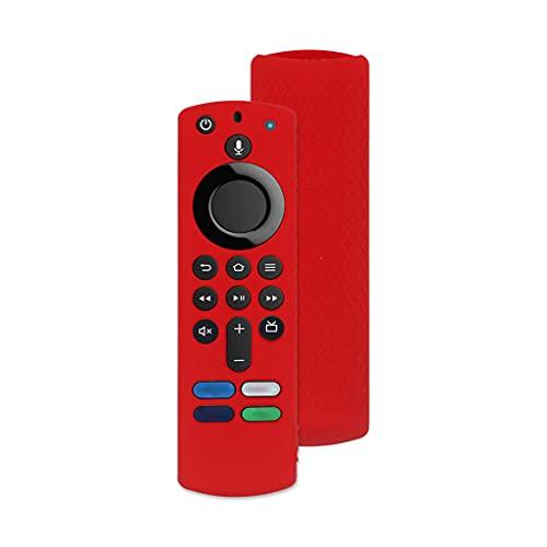 YUYAN Funda protectora antideslizante a prueba de golpes para Amazon Fire TV Stick 4K Soft Silicone Remote Controller