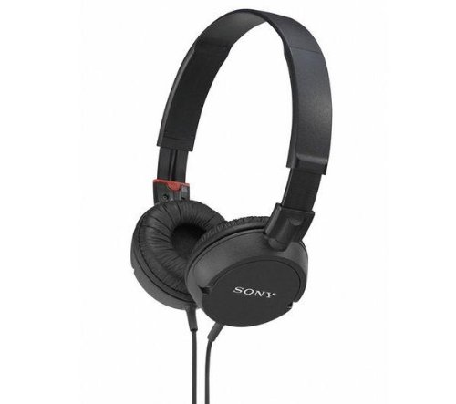 SONY MDR-ZX100 Headphones - black + CSCASEBK case for headset