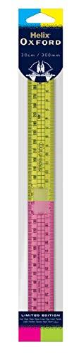 Oxford 010513 Helix Clash - Regla plegable, color rosa