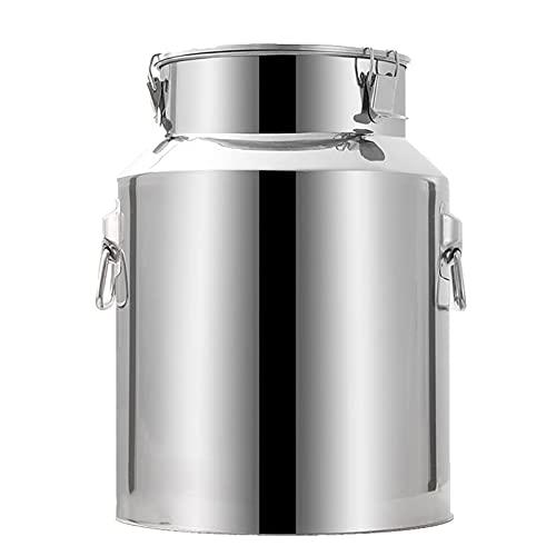 WKDZ Jarra de leche de acero inoxidable con tapa bloqueada jarra de acero inoxidable barril de madera barril de vino barril de silicona barril de fermentación barril de almacenamiento (tamaño: 28L)