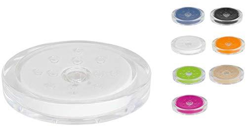 Spirella Seifenschale Steinoptik dekorative Badausstattung Seifenablage Maße: 13 x 10 x 3 cm - Weiß