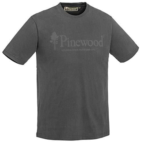 Pinewood Outdoor Life T-Shirt Homme, Dark Anthrazit, m