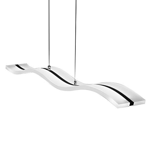 LightInTheBox Lampadario a sospensione, a LED, plafoniera dal design moderno, lampada da soffitto, con luce bianca calda, per soggiorno, camera da letto, sala da pranzo, Cromo, Kühl Weiß, LED 40.0W