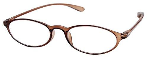 老眼鏡 ベルエクレール リーディンググラス 超弾性フレーム採用 クリアブラウン +3.00